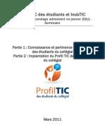 Profil TIC des étudiants