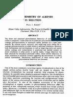 photochemistry of alkenes