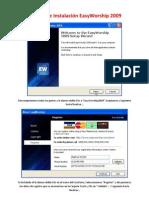 Manual de Instalación EasyWorship 2009