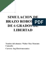Simulacion de Brazo Robotico de 6 Grados de Libertad