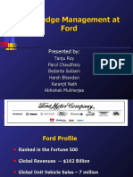 Knowledge Management at FORD