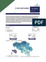 Baromètre des notaires - Immobilier - T1 2021