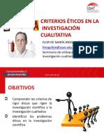CRITERIOS ETICOS EN INVESTIGACION