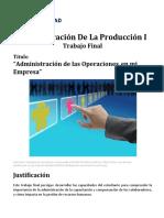 Administración de La Producción I Trabajo Final 2021(1)
