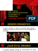 GÉNERO DRAMÁTICO PRIMERO MEDIO PRIMERA PARTE