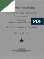 Bulletin de l'Institut Royal Colonial Belge 1938-2