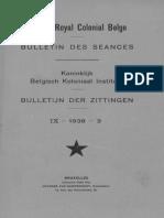 Bulletin de l'Institut Royal Colonial Belge 1938-3