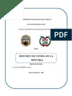 Resumen de Teoría de La Historia - Antony Castillo Bendezu