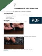 2.1.5.6 Lab f - Install Adapter Cards Prueba instalación de los cables del panel frontal