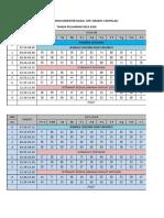 Jadwal Kelas Tahun Pelajaran 2019 2020