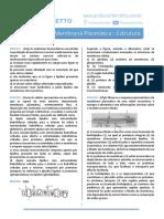 Questões Citologia Membrana Plasmatica Estrutura