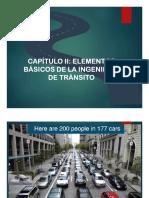 Capítulo II. Elemento básicos de la Ingeniería de tránsito