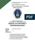 MANUAL DE FUNCIONES DE LABORATORIO