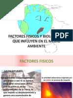 FACTORES FISICOS Y BIOLOGICOS  QUE INFLUYEN EN EL