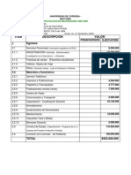 Presupuesto Limav 2000