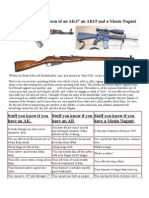 Humorous Comparison of an AK47 an AR15 and a Mosin