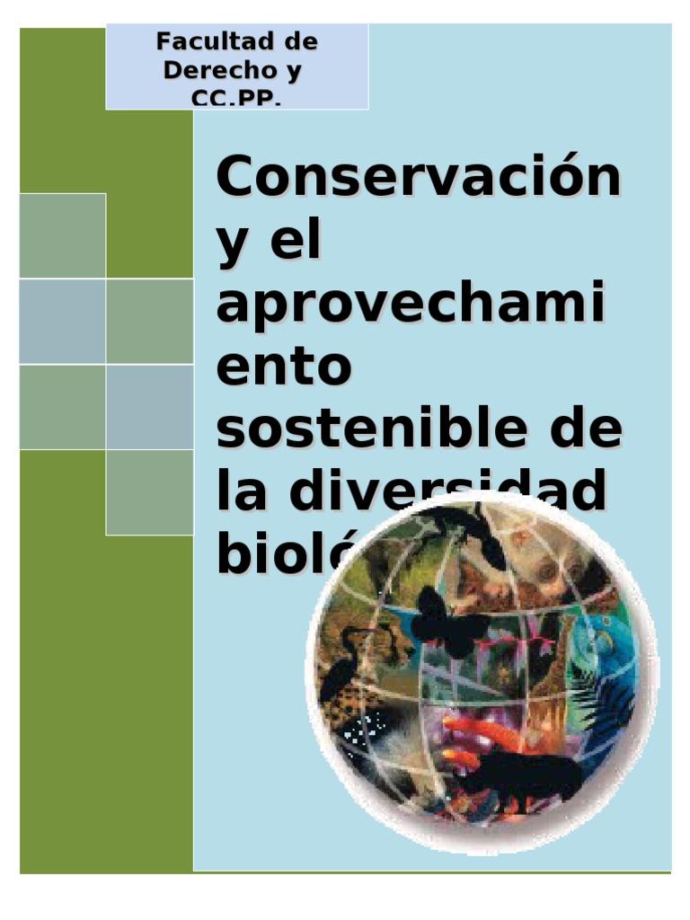ca6534d9c76f Conservación de la Diversidad Biológica y Aprovechamiento sostenible de sus  componentes - Derecho Ambiental - Ley 26839 - D.S. Nº 068-2001-PCM