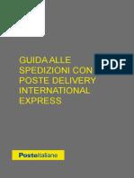 Poste Delivery International Express Guida Spedizioni