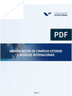 mba gestão internacional