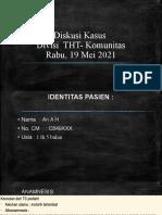 Diskusi Kasus THT Komunitas Neuropati Auditori