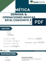 SEMANA 8-OPERACIONES BÁSICAS EN EL CONJUNTO Z+