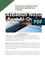 Asbabun Nuzul Surat Al
