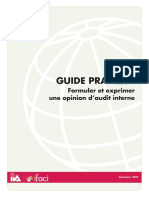 Guide Pratique - Formuler et Exprimer une Opinion d'Audit Interne