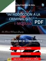 1º Año Ucs - Criminalistica