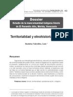 Territorialidad y etnohistoria timote