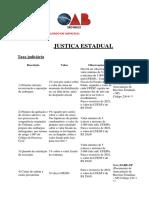 Custas Judiciais - Justica Estadual 26.04.21