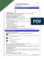 Ficha de dados de segurança