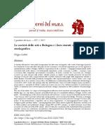 Le società delle arti a Bologna e i loro statuti un bilancio