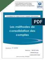 Les Méthodes de Consolidation Des Comptes Final