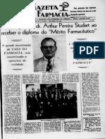 A Gazeta da Farmácia 09_1948 Homenagem a Arthur Pereira Studart