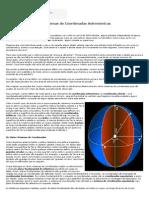 2- Os sistemas de coordenadas celestes