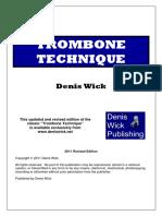 TROMBONE TECHNIQUE DENIS WICK