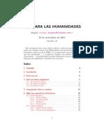 Latex para las Humanidades (Latex Human Ida Des) - Luis SanJuán (Átopos)