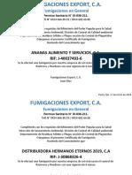 Formato de certificado de fumigacion