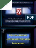 CURSO TRAUMATISMOS  ALVEOLODENTARIOS DR. ORÉ