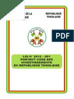 Code Des Investissements Du Togo