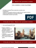 O Mercador de Veneza - Relações com o pensamento econômico