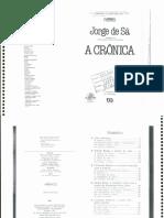 Sa, Jorge de - A Crônica