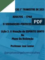 Lb 1º Tr 2021 -Lição 2