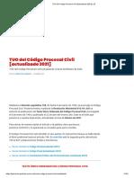 TUO del Código Procesal Civil [actualizado 2021] _ LP