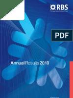 Announcement RBS Annual Results 2010