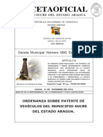 OrdenanzaMunicipioSucreAragua1683_PATENTE DE VEHCULOS2019