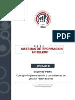 Unidad III. Concepto Implementación y Uso Sistemas de Gestión Reservaciones. Segunda Parte