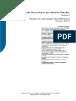 Plano de curso aprendizagem  Mecânico de Manutenção em Veículos Pesados 2015