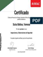 Constancia_Inspecciones y Observaciones de Seguridad_Sulca Balboa