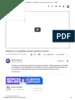 (9) Multiplica x3 tu rentabilidad, aprende a gestionar el tiempo. - YouTube